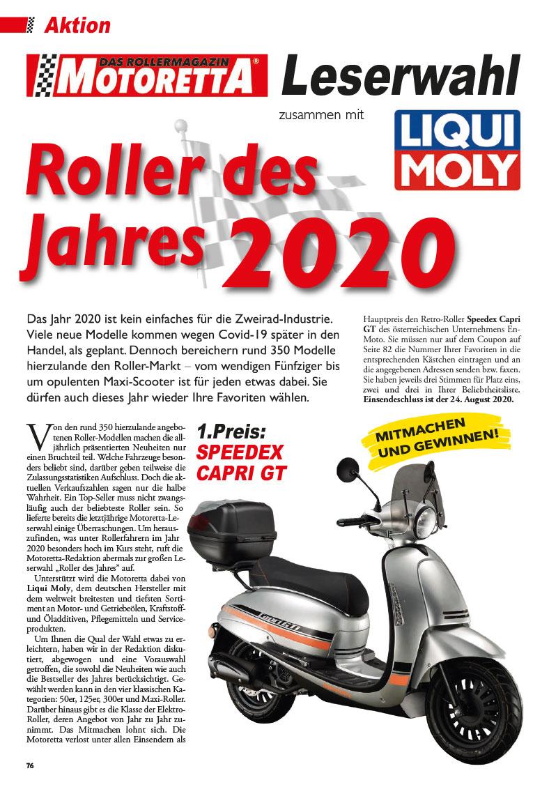Motoretta Leserwahl 2020